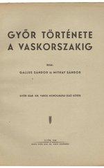 Győr története a vaskorszakig