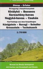 Királykő - Bucsecs - Keresztény-havas - Nagykő-havas - Csukás 1:70000