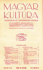 Magyar Kultúra - Társadalmi és Tudományos Szemle 1934-es folyóirat