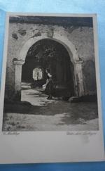 Fekete-fehér antik képeslapok -5 db