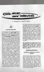 Avana sci-fi Hírlevél 79. (ajándék relikviával)