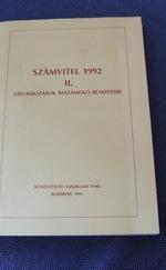 Számvitel 1992 II. - Vállalkozások elszámoló rendszere