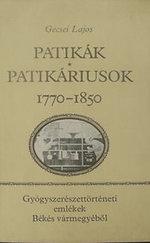 Patikák - Patikáriusok 1770-1850