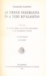 Az ember származása és a nemi kiválasztás 1. kötet