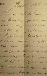 Levél - Kézirat