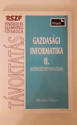 Gazdasági informatika II. (Szervezéstechnológia)